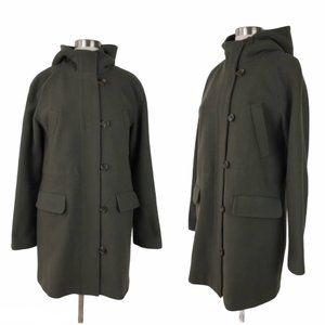 J.CREW Green Stadium Cloth Elements Duffle Coat